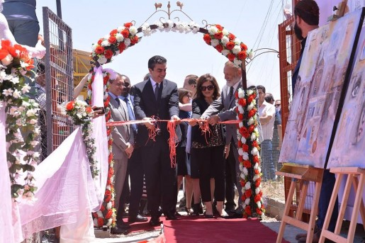 Inauguration ceremony House of Artists, Domiz refugee camp